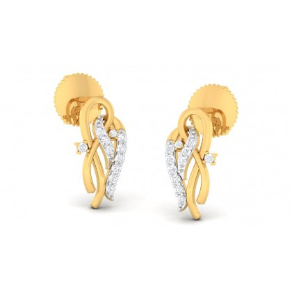 GANGI DIAMOND STUDS EARRINGS in 18K Gold