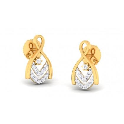 LALANA DIAMOND STUDS EARRINGS in 18K Gold