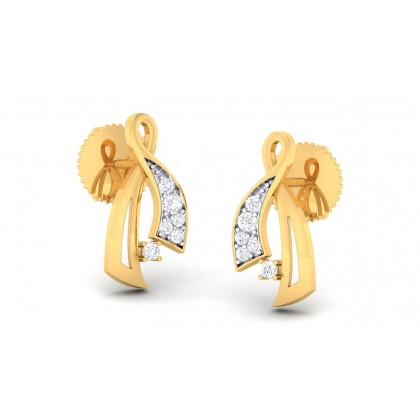 SAIRA DIAMOND STUDS EARRINGS in 18K Gold
