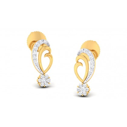 MARIANA DIAMOND STUDS EARRINGS in 18K Gold
