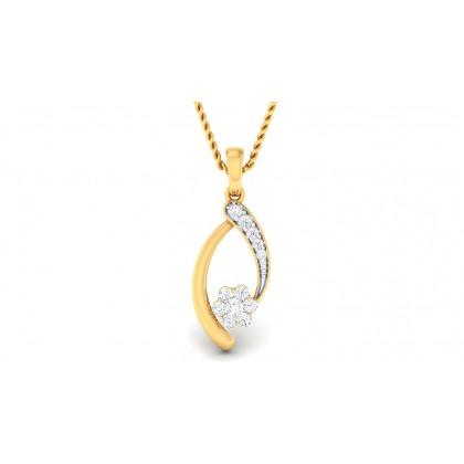 RIAN DIAMOND FASHION PENDANT in 18K Gold