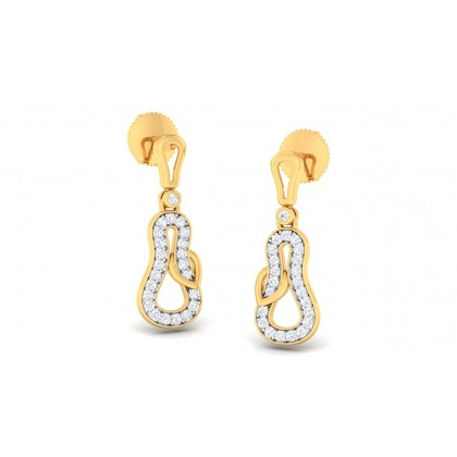 NANDITA DIAMOND DROPS EARRINGS in 18K Gold