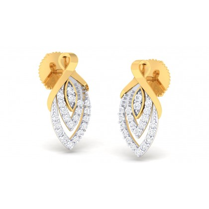 DAFNE DIAMOND STUDS EARRINGS in 18K Gold