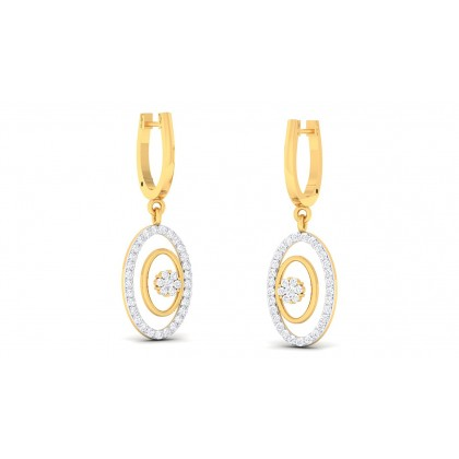 RANGAT DIAMOND DROPS EARRINGS in 18K Gold