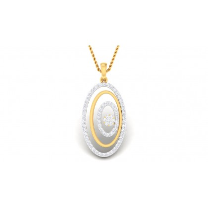 PAISLEY DIAMOND FASHION PENDANT in 18K Gold
