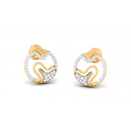 RAJASI DIAMOND STUDS EARRINGS in 18K Gold