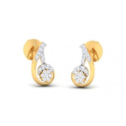 CHERISH DIAMOND STUDS EARRINGS in 18K Gold