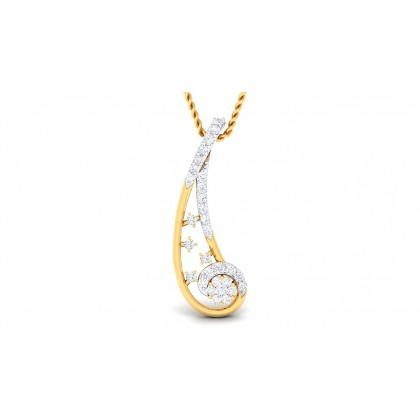 BELINDA DIAMOND FASHION PENDANT in 18K Gold
