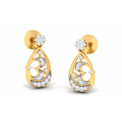 AMARIS DIAMOND DROPS EARRINGS in 18K Gold