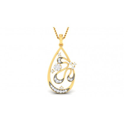 MARIAN DIAMOND FASHION PENDANT in 18K Gold