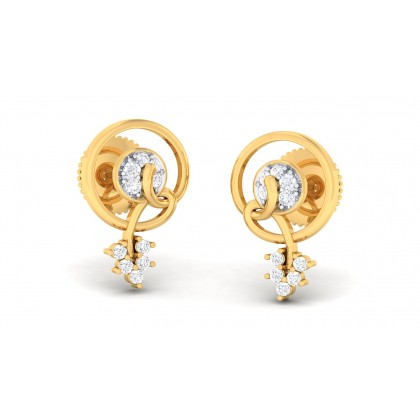 ZALAK DIAMOND STUDS EARRINGS in 18K Gold