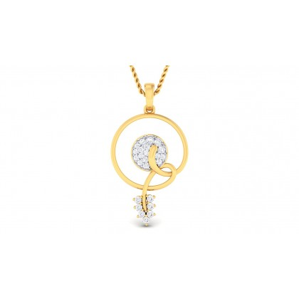 APSARA DIAMOND FLORAL PENDANT in 18K Gold