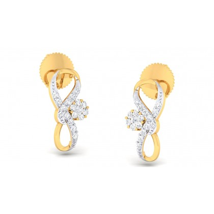 ALEX DIAMOND STUDS EARRINGS in 18K Gold