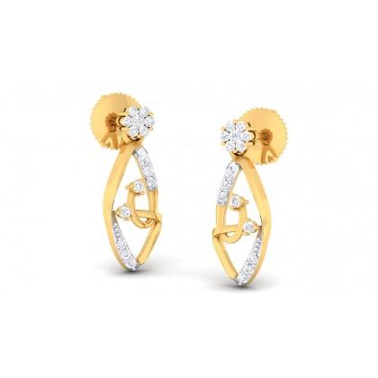 PRIYALA DIAMOND STUDS EARRINGS in 18K Gold