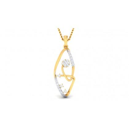 BOWIE DIAMOND FASHION PENDANT in 18K Gold