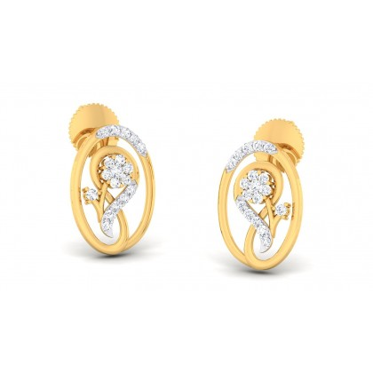 LAXMI DIAMOND STUDS EARRINGS in 18K Gold