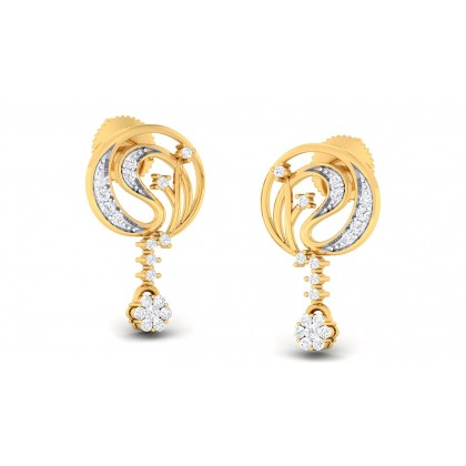 BHUPALI DIAMOND DROPS EARRINGS in 18K Gold