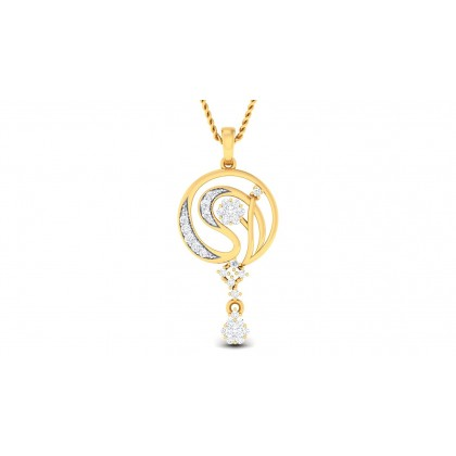 MUKTI DIAMOND FASHION PENDANT in 18K Gold