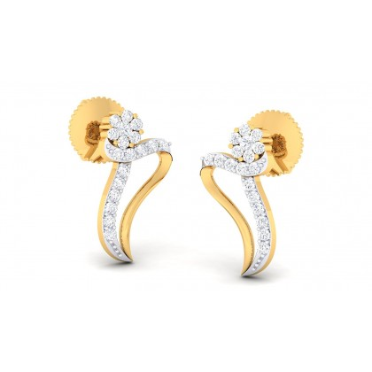 AVERI DIAMOND STUDS EARRINGS in 18K Gold