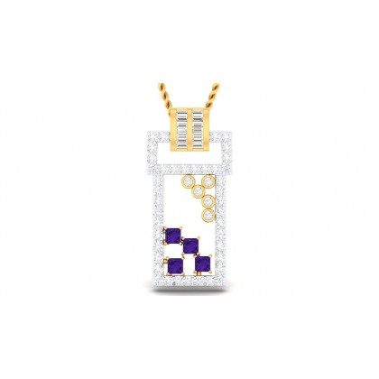 PERLA DIAMOND FASHION PENDANT in 18K Gold