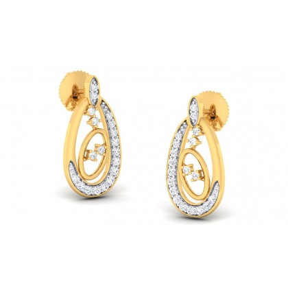 ALONDRA DIAMOND STUDS EARRINGS in 18K Gold