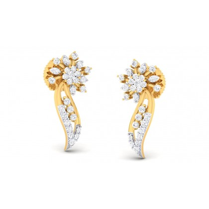 NINA DIAMOND STUDS EARRINGS in 18K Gold
