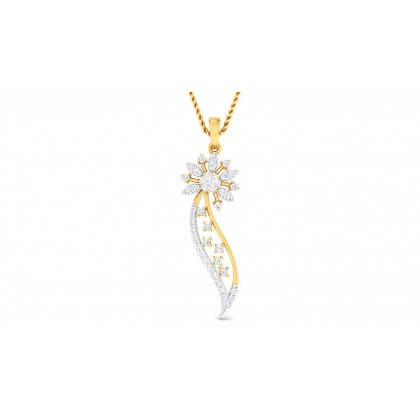 ADITRI DIAMOND FLORAL PENDANT in 18K Gold