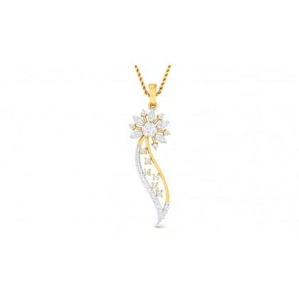 ADITRI DIAMOND FLORAL PENDANT in 18K Gold