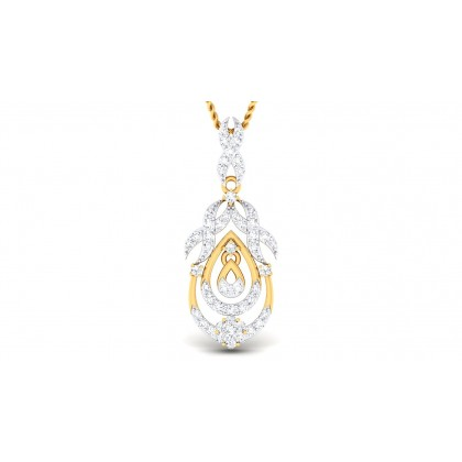 CRISTAL DIAMOND FASHION PENDANT in 18K Gold
