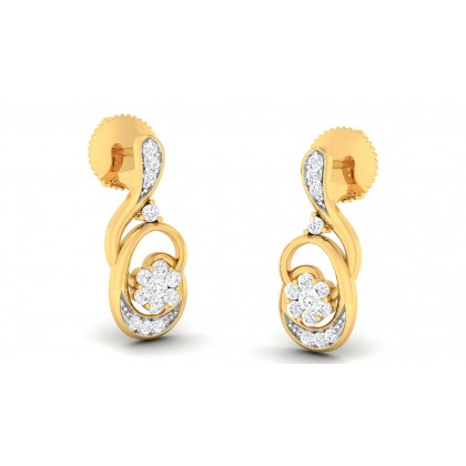 PAVAKI DIAMOND STUDS EARRINGS in 18K Gold
