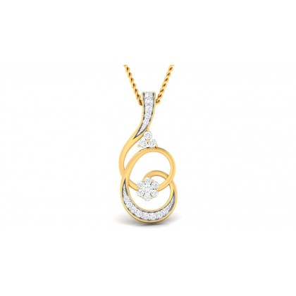 LEILA DIAMOND FASHION PENDANT in 18K Gold