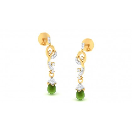 SANIYAH DIAMOND DROPS EARRINGS in 18K Gold