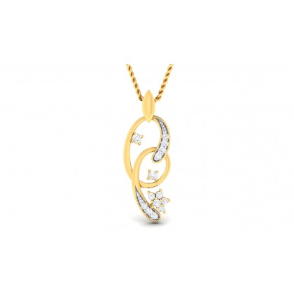 AILEY DIAMOND FASHION PENDANT in 18K Gold