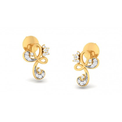 LINH DIAMOND STUDS EARRINGS in 18K Gold