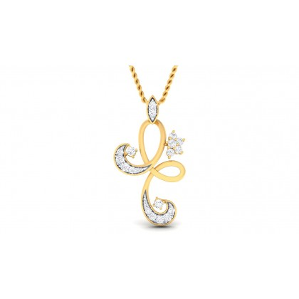 SOWMYA DIAMOND FASHION PENDANT in 18K Gold