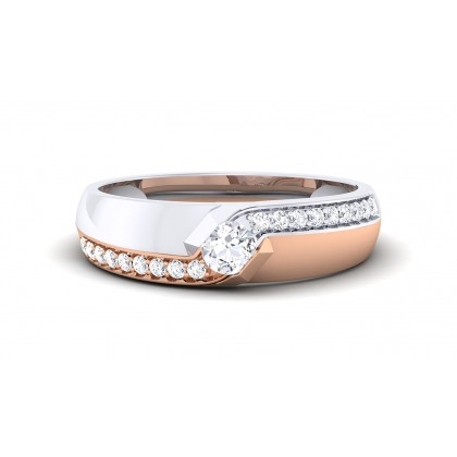 BOWIE DIAMOND BANDS RING in 18K Gold