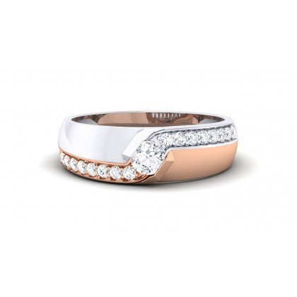 ZURI DIAMOND BANDS RING in 18K Gold
