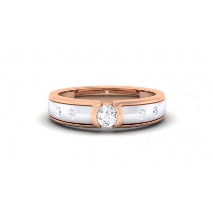 DAILA DIAMOND BANDS RING in 18K Gold