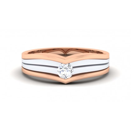 LOVE DIAMOND BANDS RING in 18K Gold