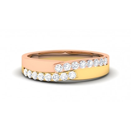 VARANA DIAMOND BANDS RING in 18K Gold