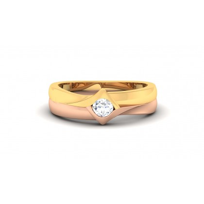 SAROJA DIAMOND BANDS RING in 18K Gold