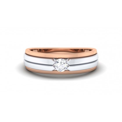 ALMA DIAMOND BANDS RING in 18K Gold
