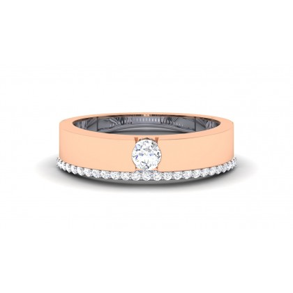 SONIA DIAMOND BANDS RING in 18K Gold