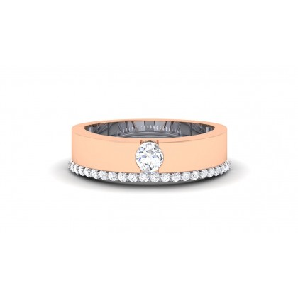 MARIE DIAMOND BANDS RING in 18K Gold