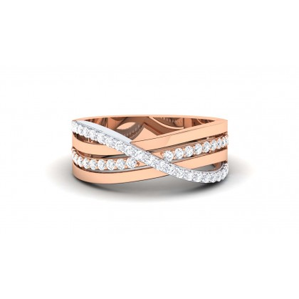 TASHA DIAMOND BANDS RING in 18K Gold
