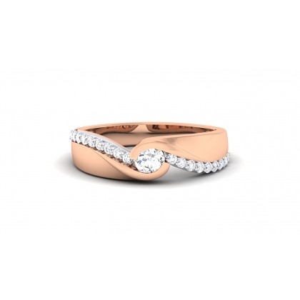 AMODA DIAMOND BANDS RING in 18K Gold