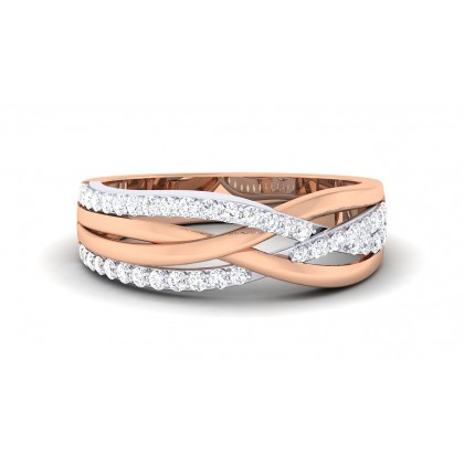 AYATI DIAMOND BANDS RING in 18K Gold