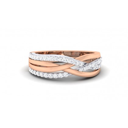 VANMAYI DIAMOND BANDS RING in 18K Gold