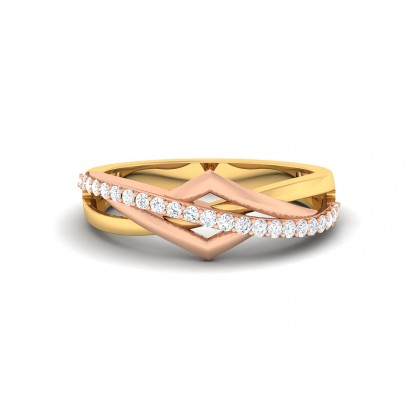SIYA DIAMOND BANDS RING in 18K Gold
