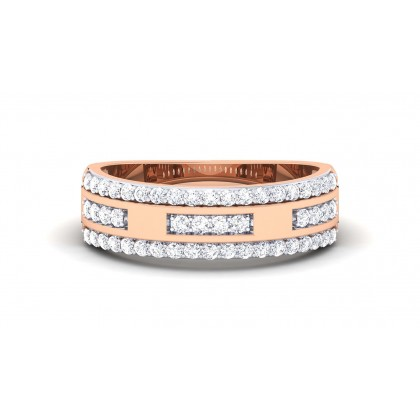 ANSHU DIAMOND BANDS RING in 18K Gold